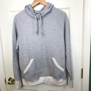 Champion women's sweatshirt pullover grey hoodie